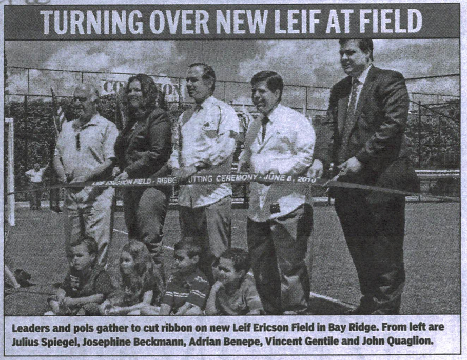 groundbreaking ceremony at Leif Ericson